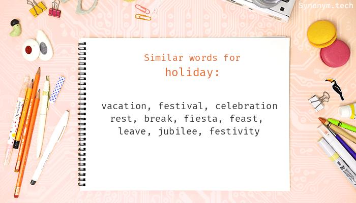 Synonyms happy holidays