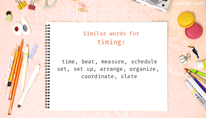 Timing Synonyms