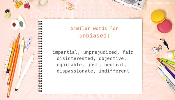 Unbiased Synonyms