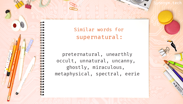 Supernatural Synonyms