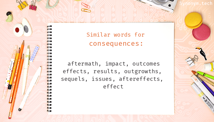 Consequences Synonyms  Similar word for Consequences