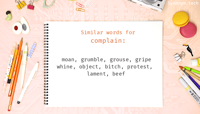 Complain Synonyms