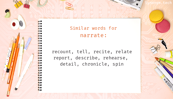 Narrate Synonyms