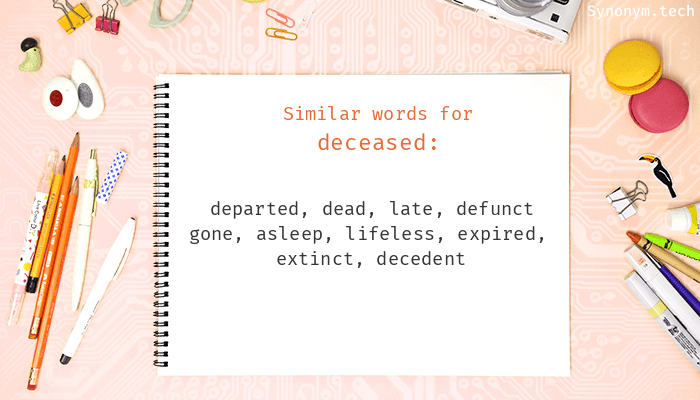 Deceased Synonyms