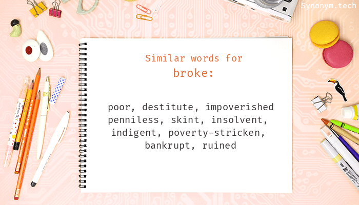 Broke Synonyms