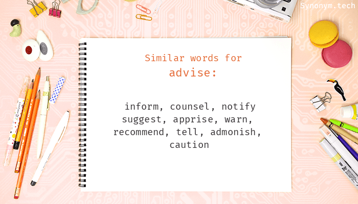Advise Synonyms
